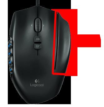 Logicool g600のシフトボタン