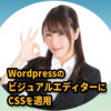 最初にやっとかないと損をする!WordPressのビジュアルエディターにCSSを適用